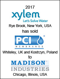 Xylem has sold PCI to Madison