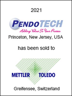 PendoTECH has been sold to Mettler-Toledo International, Inc.