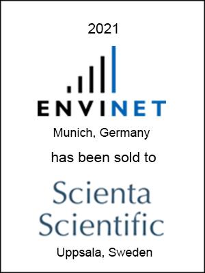 ENVINET GmbH has been sold to Scienta Scientific AB