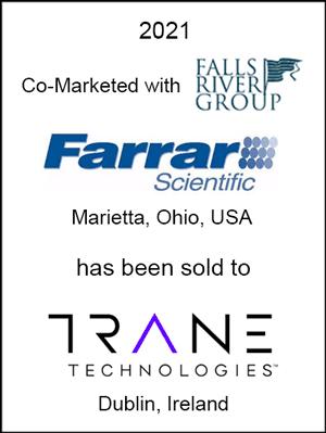 Farrar Scientific has been sold to Trane Technologies